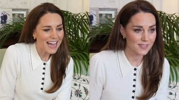 Księżna Kate w czasie rozmowy z podopiecznymi Little VIllage