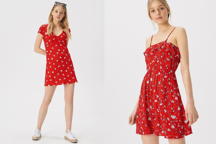 dziewczęce sukienki na lato Sinsay w czerwonym kolorze