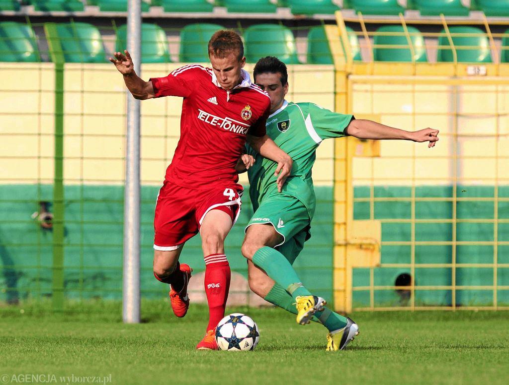 Paweł Stolarski podczas sparingu z GKS Katowice