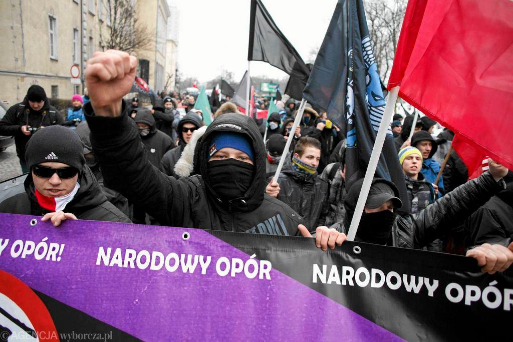 Demonstracja nacjonalistów w Poznaniu