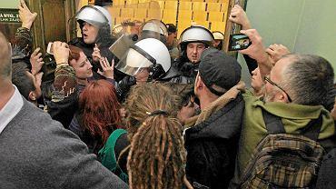 Interwencja policji podczas wykładu na Uniwersytecie Ekonomicznym