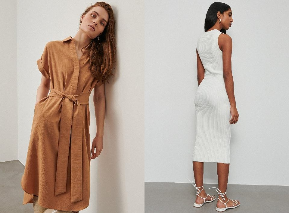Sukienki w stonowanych kolorach