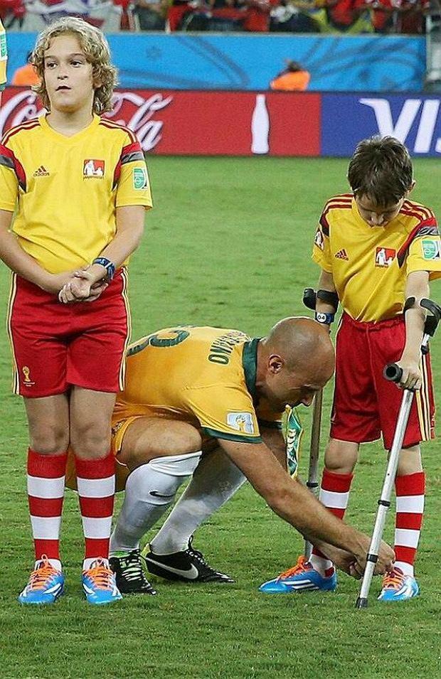 Piękny gest australijskiego piłkarza