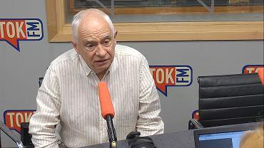 Janusz Zemke w studiu TOK FM.