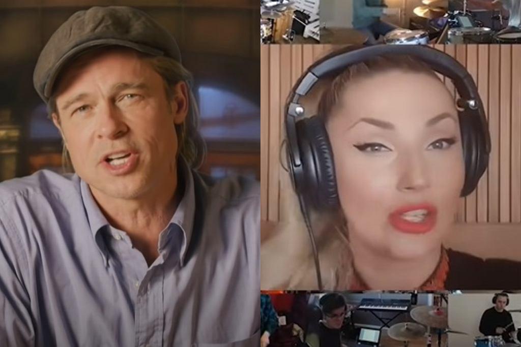 Brad Pitt w 'SNL' ; Cleo podczas koncertu online