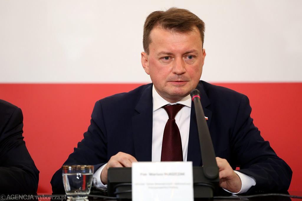 Mariusz Błaszczak, minister spraw wewnętrznych
