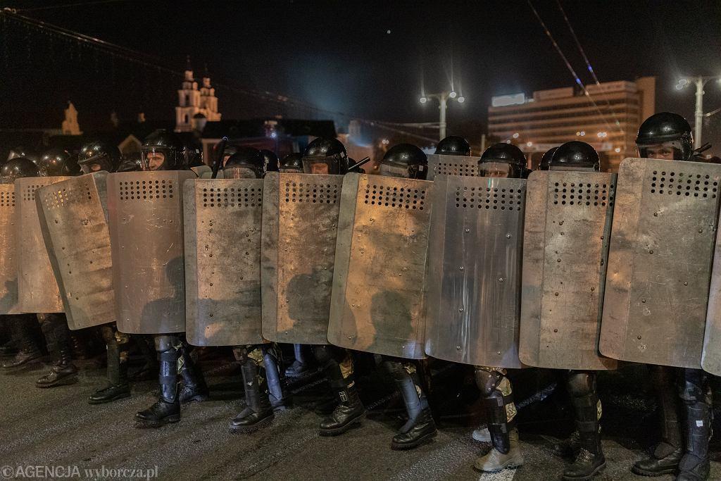 Milicja podczas protestów na Białorusi