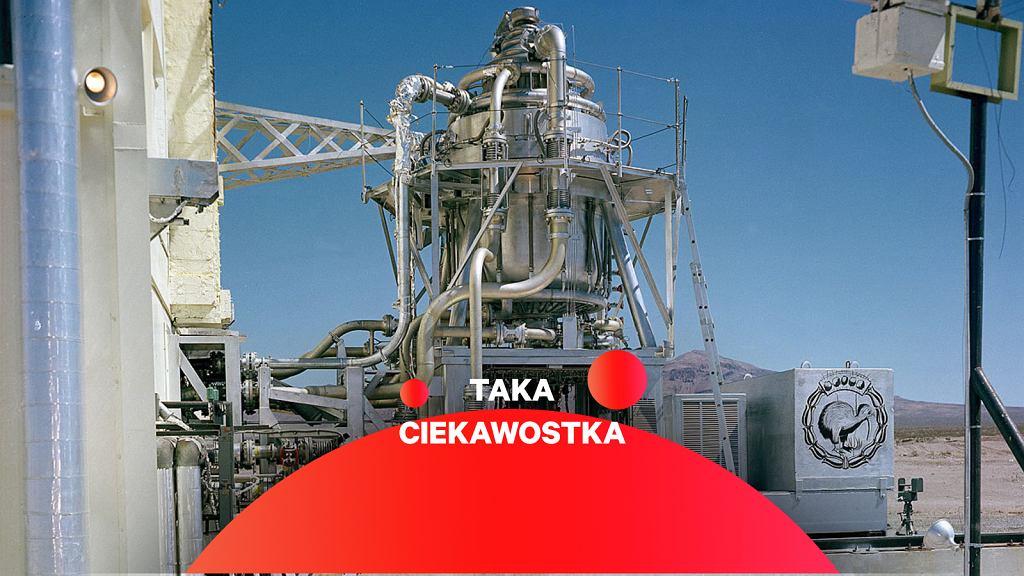 Pierwszy reaktor KIWI na stanowisku testowym