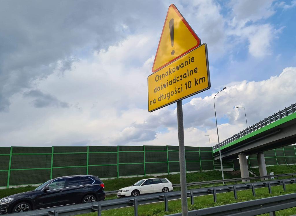 Autostrada A1 koło Częstochowy