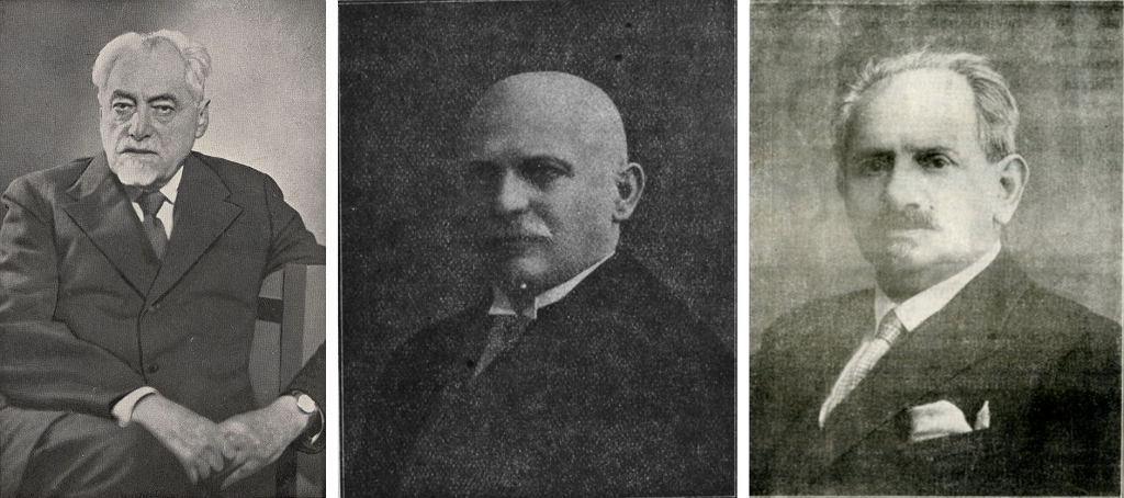 Samuel Goldflam, Ludwik Bregman i Adam Wiziel (fot. autorzy nieznani / wikimedia.org / domena publiczna)