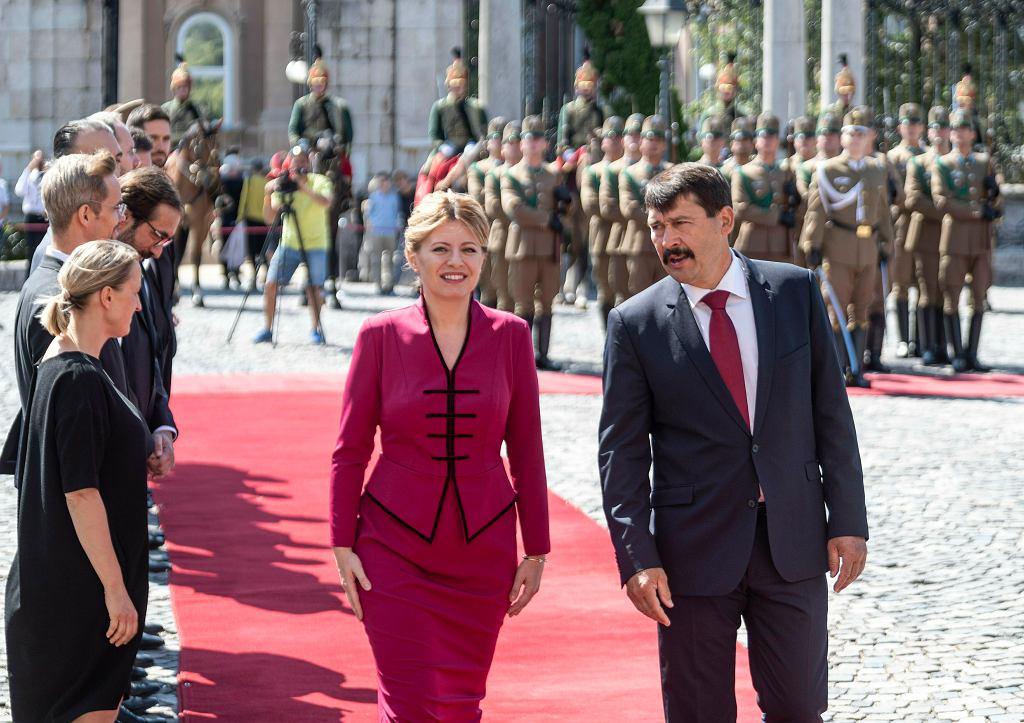 Prezydent Słowacji podczas wizyty na Węgrzech