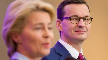 Ursula von der Leyen, szefowa Komisji Europejskiej, i premier Mateusz Morawiecki