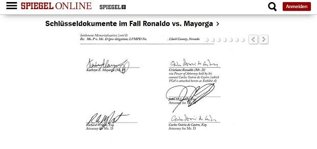 Der Spiegel opublikował dokumenty dotyczące oskarżeń o gwałt Cristiano Ronaldo