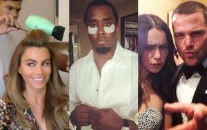 Sofia Vergara, Diddy, Chris O'Donnell i Emilia Clarke, złote globy