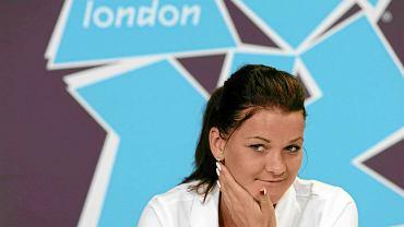 Agniszka Radwańska na konferencji prasowej podczas Igrzysk Olimpijskich w Londynie