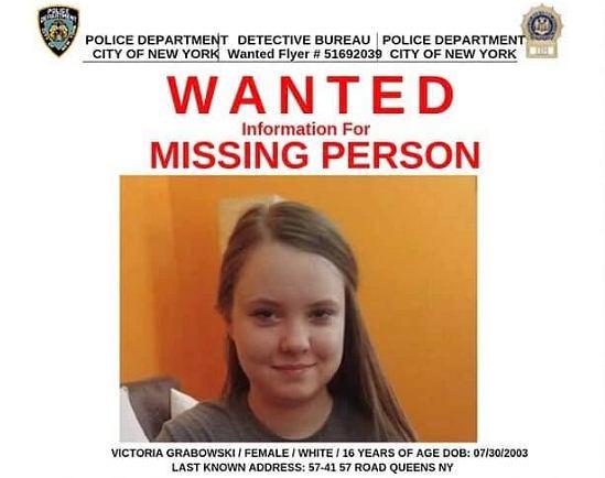 Victoria Grabowski poszukiwana przez policję