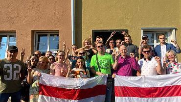Wybory prezydenckie na Białorusi. Prezydent Gdanśka spotkała się z Białorusinami