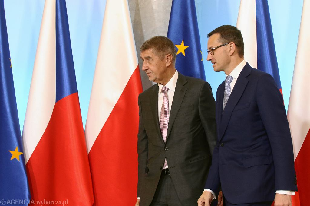 Premier Czech Andrej Babisz i premier Polski Mateusz Morawiecki.