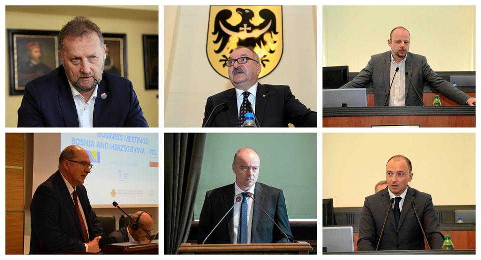 Bezpartyjni Samorządowcy: Robert Raczyński, Cezary Przybylski, Patryk Wild, Marek Obrębalski, Michał Bobowiec i Tymoteusz Myrda
