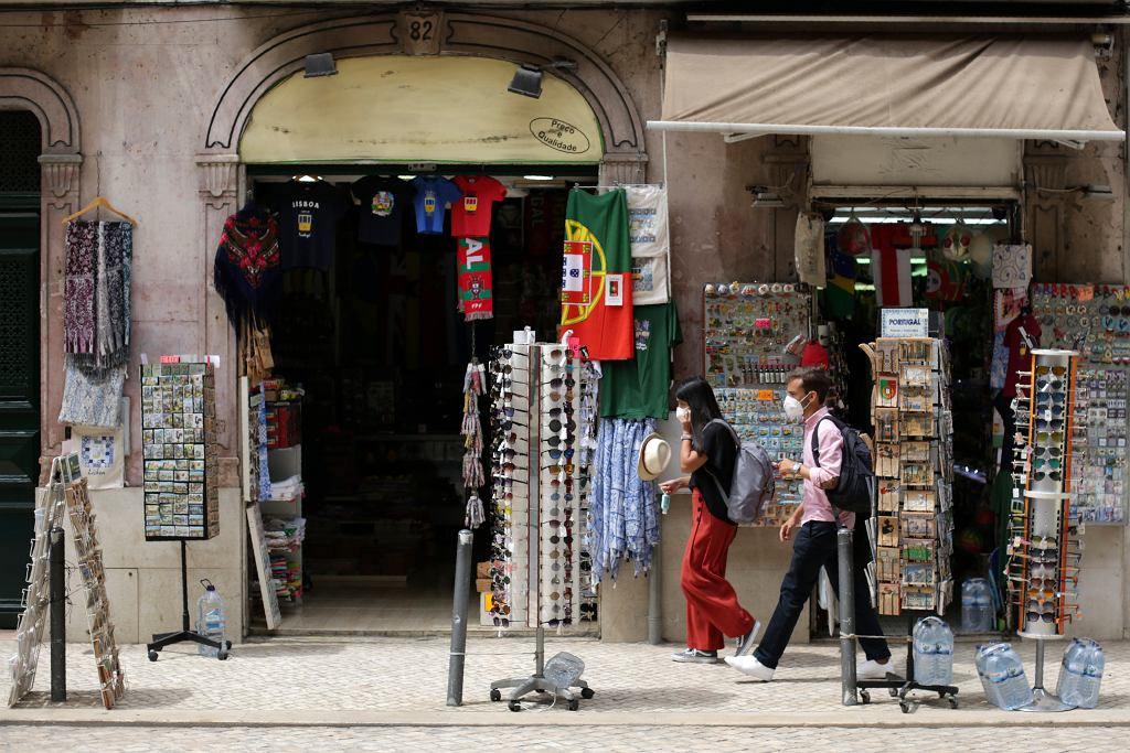 Ulice Lizbony podczas epidemii