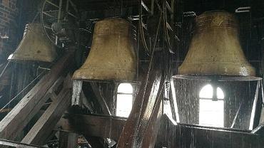 Wnętrza gorzowskiej katedry po pożarze