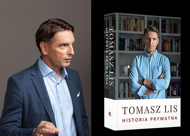 Tomasz Lis i okładka jego najnowszej książki