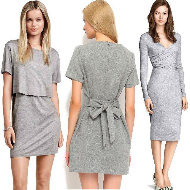 Najmodniejsze szare sukienki na jesień