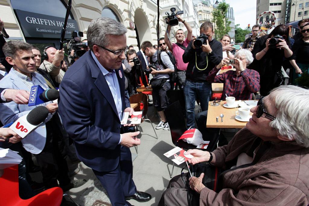 Bronisław Komorowski namawia Warszawiaków do głosowania na niego w II turze wyborów prezydenckich
