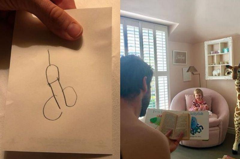 Córka Armie Hammera narysowała penisa