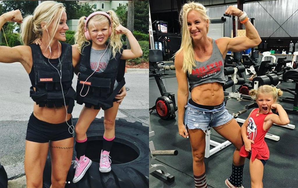 Mama ćwiczy z córką i podbija Instagram. Ta dziewczynka ma lepszą formę niż fit girls