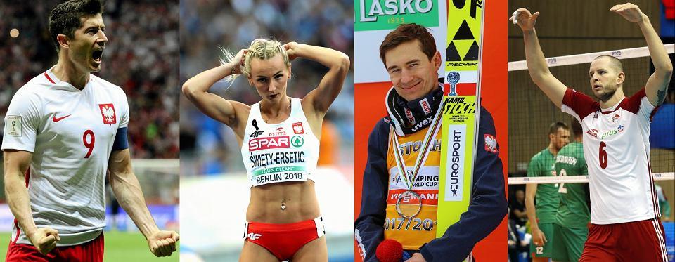Robert Lewandowski, Justyna Swiety, Kamil Stoch, Bartosz Kurek