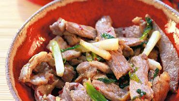 Wieprzowina w sosie sojowo-czosnkowym