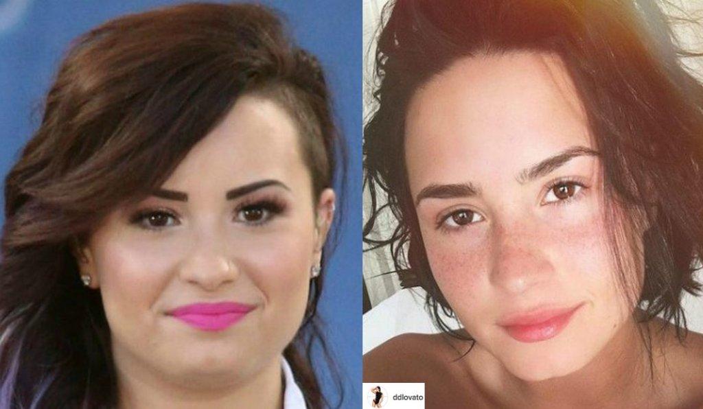 Demi Lovato chyba sama nie przypuszczała. z jak pozytywną spotka się jej instagrmowe zdjęcie bez makijażu. Fani komplementowali ją: