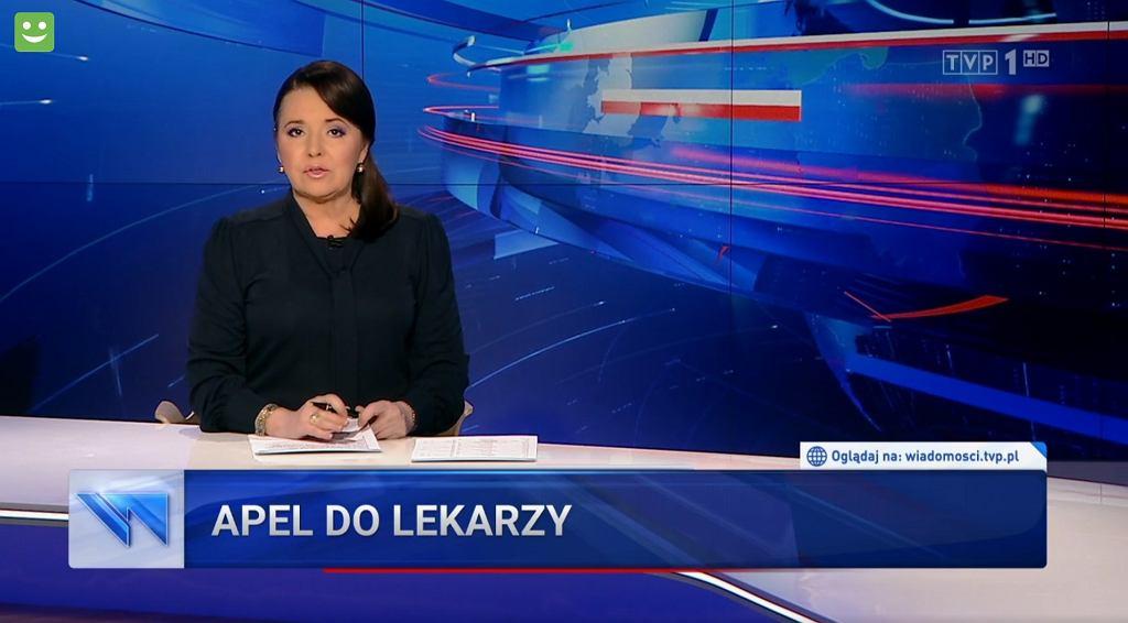 Materiał dot. lekarzy w 'Wiadomościach' TVP