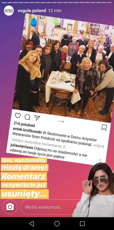 Julia Wieniawa atakuje Antka Królikowskiego