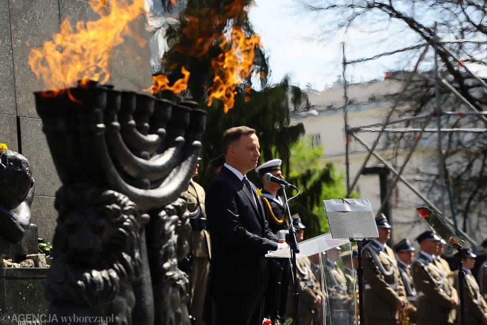 Obchody 75 . rocznicy wybuchu powstania w getcie warszawskim