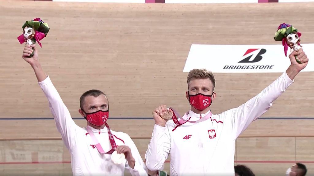 Marcin Polak (z lewej) i Michał Ładosz z brązowymi medalami na igrzyskach paraolimpijskich