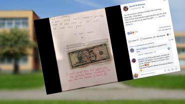Uczeń dał nauczycielce pieniądze. Nie przyjęła