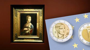 'Dama z gronostajem' trafi na monetę o nominale dwóch euro