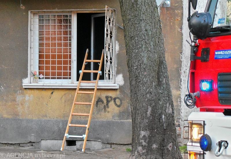 Mieszkanie przy Stalowej w Warszawie, gdzie doszło do zbrodni