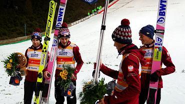 Skoki narciarskie. Polska na trzecim miejscu w konkursie drużynowym w Wiśle