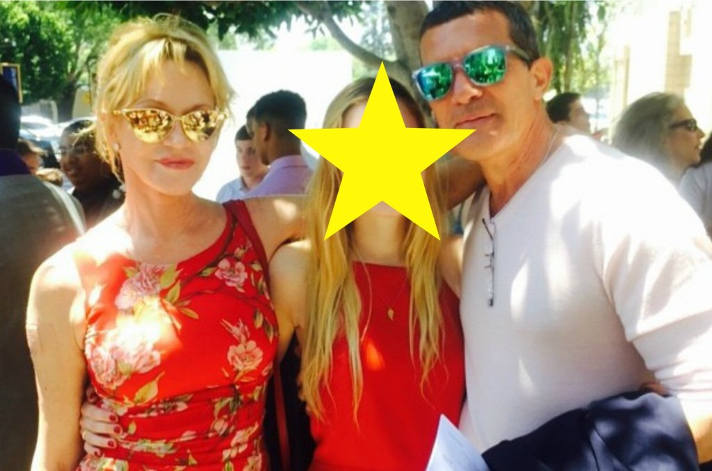 Melanie Griffith i Antonio Banderas z córką Stellą