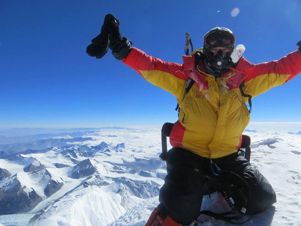 Na szczycie Mount Everest