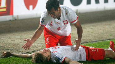 Roger i Jakub Błaszczykowski w meczu z Czechami