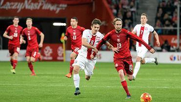 Polska - Czechy. Karol Linetty
