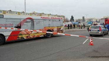 Pabianice. Zginął rowerzysta wepchnięty pod autobus