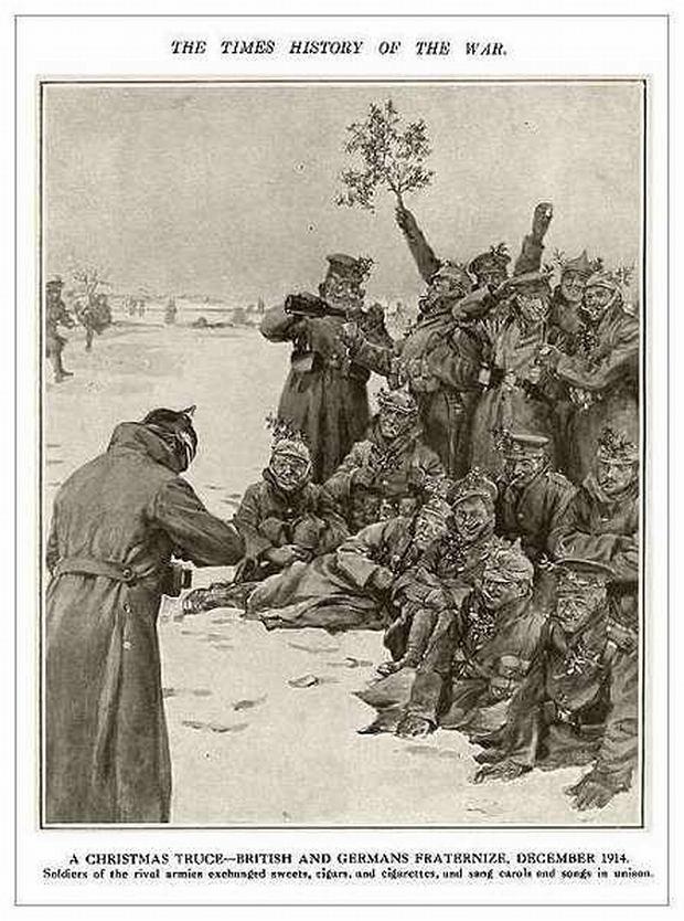Zdjęcia i materiały przedstawiające Pokój Bożonarodzeniowy z 1914 roku