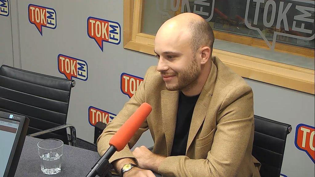 Jan Śpiewak w studiu TOK FM