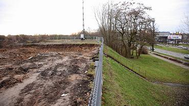Grudzień 2019. Plac budowy sklepu IKEA u zbiegu ul. Białowieskiej i Mieszka I w Szczecinie