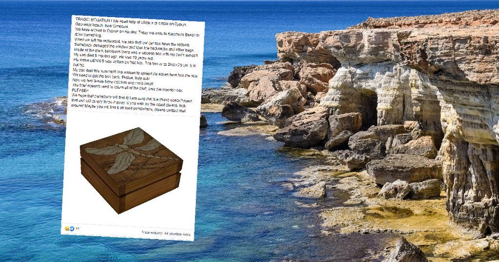 Cypr. Skradziono urnę z prochami